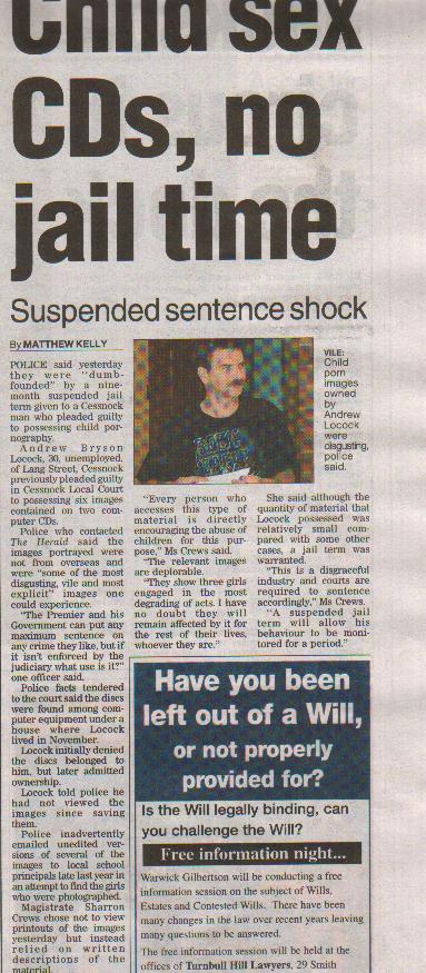 Matthew Kelly   -  Newcastle Herald  -  2nd Feb 2005  -  Page 3